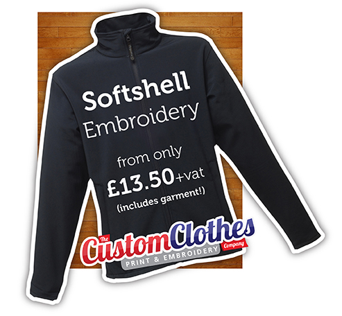 Softshell Jacket Embroidery Service based in Ashford, Kent