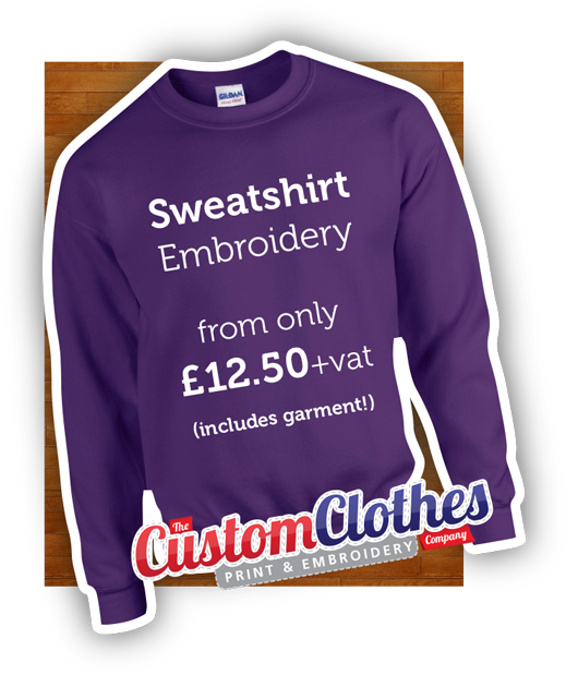 Custom clothes print embroidery services in kent